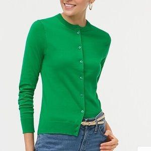 J. Crew Tippi Cardigan Merino Wool Green XS